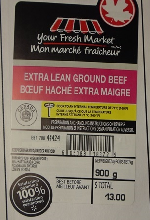 Your Fresh Market - Extra Lean Ground Beef - 900grams