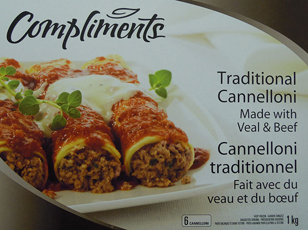 Compliments - Cannelloni traditionnel - 1 kilogrammes