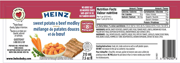 Sweet Potato and Beef Medley - 213 mL