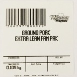 « Ground Pork Extra Lean Fam Pak » de marque Killarney Market