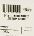 « Extra Lean Ground Beef Less than 10% Fat » de marque Killarney Market