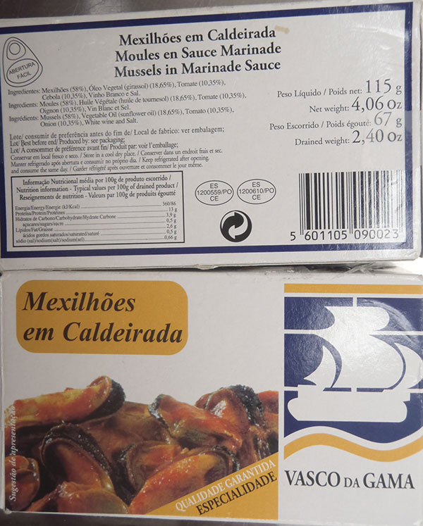 Mussels in Marinade sauce