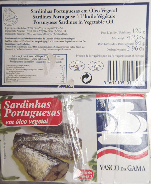 Portuguese Sardines In Vegetable Oil