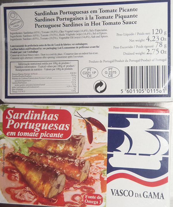 Portuguese Sardines in Hot Tomato Sauce