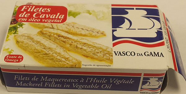 Mackerel Filets in Vegetable Oil