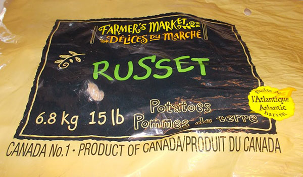 Farmer's Market	Potatoes Russet - 15 pound