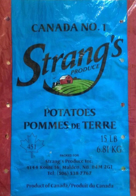 Strang's Produce Potatoes - 15 pound