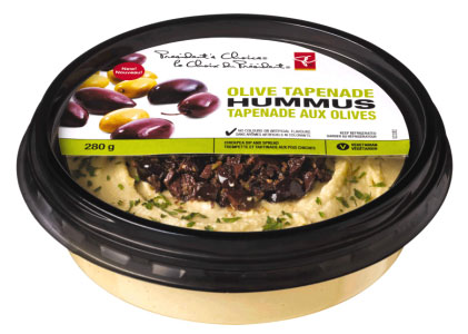 President's Choice brand Olive Tapenade Hummus - 280 g