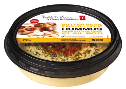 President's Choice brand Butter Bean and Roasted Garlic Hummus - 280 g