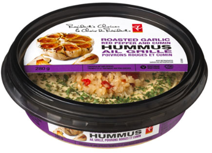 President's Choice brand Roasted Garlic Red Pepper and Cumin Hummus - 280 g
