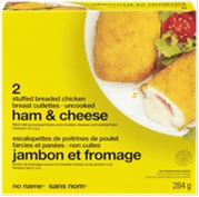 No Name brand Ham and Cheese Stuffed Breaded Chicken Breast Cutlettes - Uncooked - 284 grams
