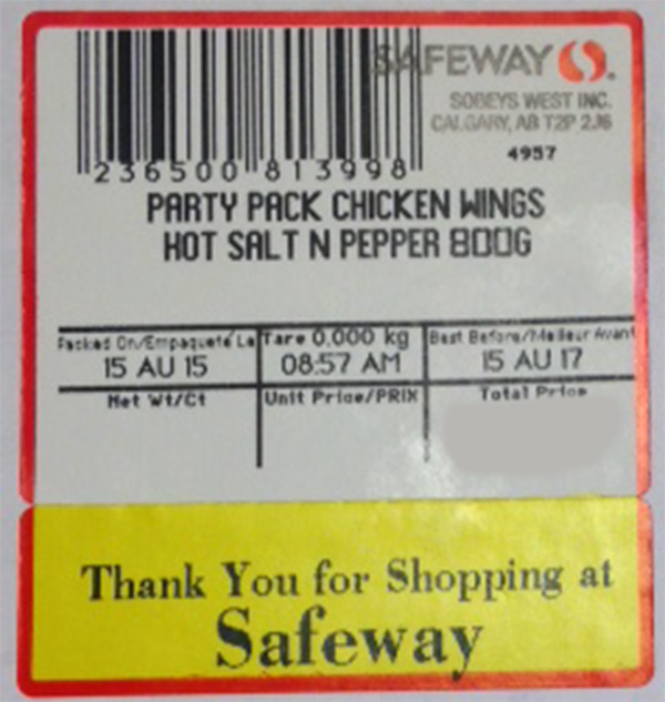 Party Pack Chicken Wings Hot Salt N Pepper - Variable