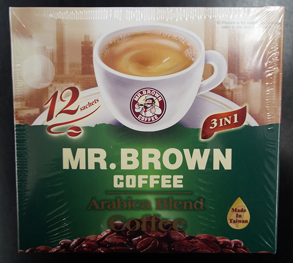 Mr. Brown Coffee - Arabica Blend Coffee - 180 grams (15 grams x 12 sachets)
