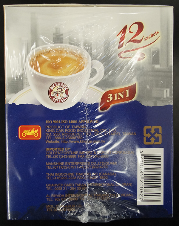 Mr. Brown Coffee - « Blue Mountain Blend Coffee » - 180 grammes (15 grammes x 12 sachets)