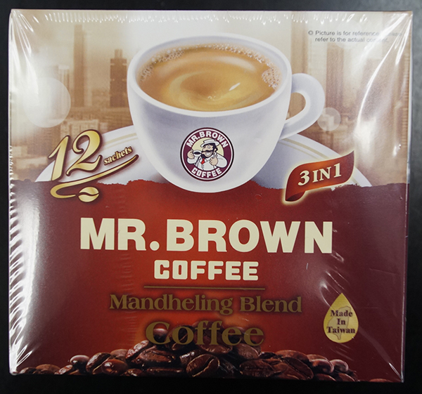 Mr. Brown Coffee - Mandheling Blend Coffee - 192 grams  (16 grams x 12 sachets)
