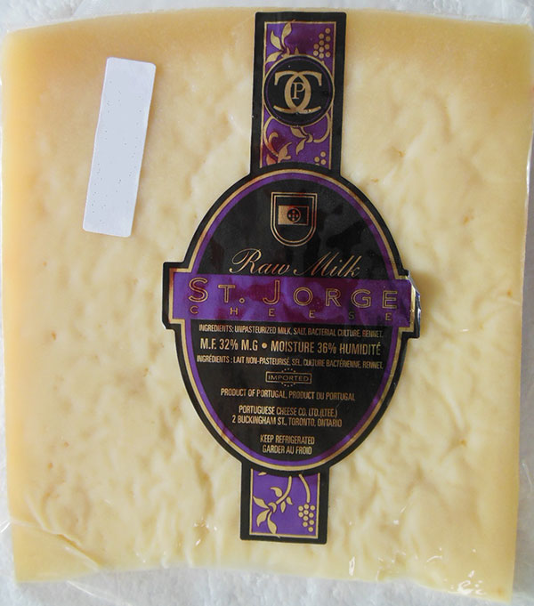 St  Jorge and Queijo São Jorge raw milk cheese recalled due