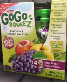 GoGo squeeZ - Apple Grape - 4 x 90 grams