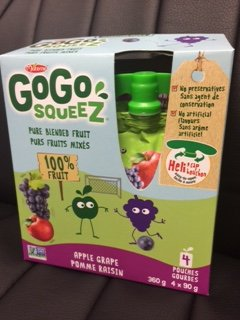 GoGo squeeZ - Apple Grape - 4 x 90 grams - alternate packaging