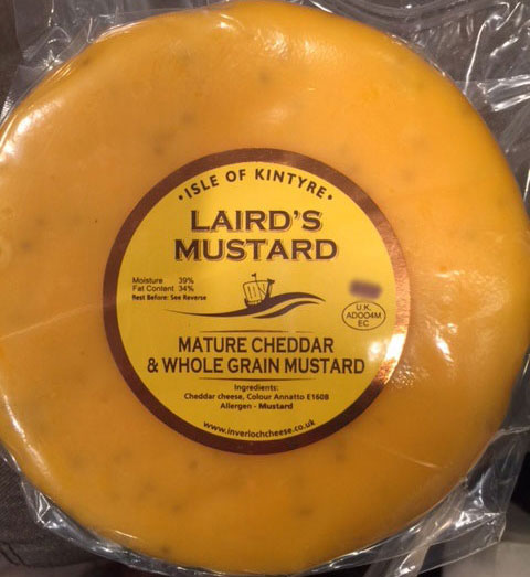 Laird's Mustard Mature Cheddar and Whole Grain Mustard - 1 kilogram