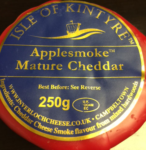 "<span lang=""en"">Isle of Kintyre - Applesmoke Mature Chedder</span> - 250 gramme"