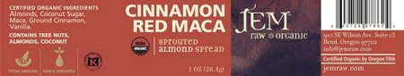 Cinnamon Red Maca - Sprouted Almond Spread - 28.4 grams