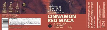 Cinnamon Red Maca - Sprouted Almond Spread - 170 grams