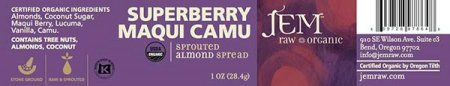 Superberry Maqui Camu - Sprouted Almond Spread - 28.4 grams