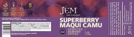 Superberry Maqui Camu - Sprouted Almond Spread - 170 grams