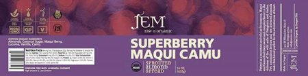 Superberry Maqui Camu - Sprouted Almond Spread - 455 grams