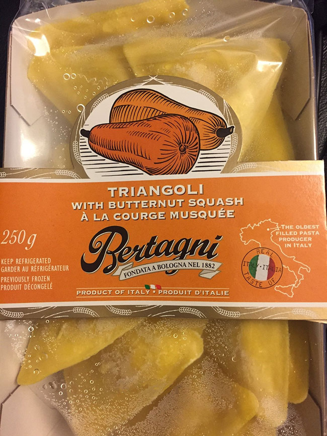 Bertagni Triangoli with Butternut Squash