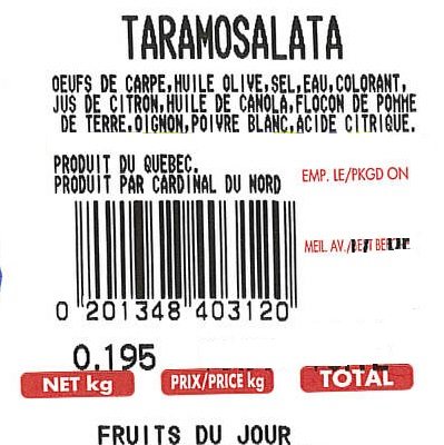 Fruits du Jour - Taramosalata