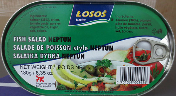 Losos - Fish Salad Neptun - 180 gram - top