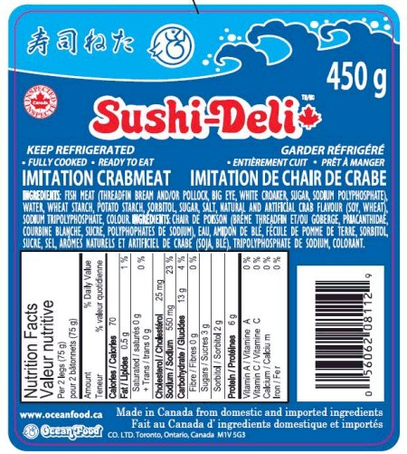 Sushi Deli Imitation Crabmeat