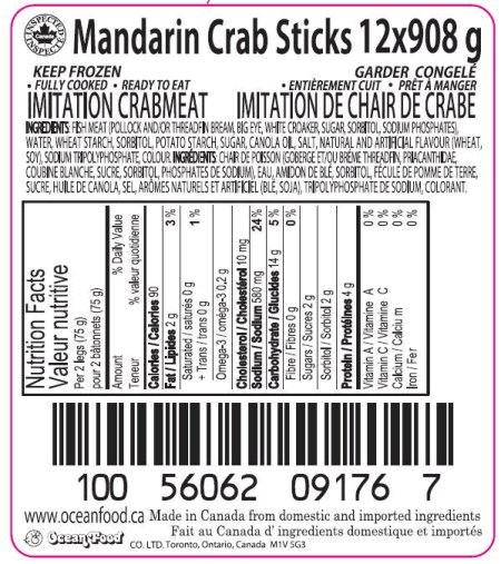 Mandarin Crab Sticks Imitation Crabmeat