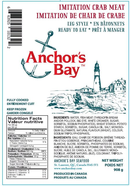 Anchor's Bay Imitation Crab Meat - Leg Style