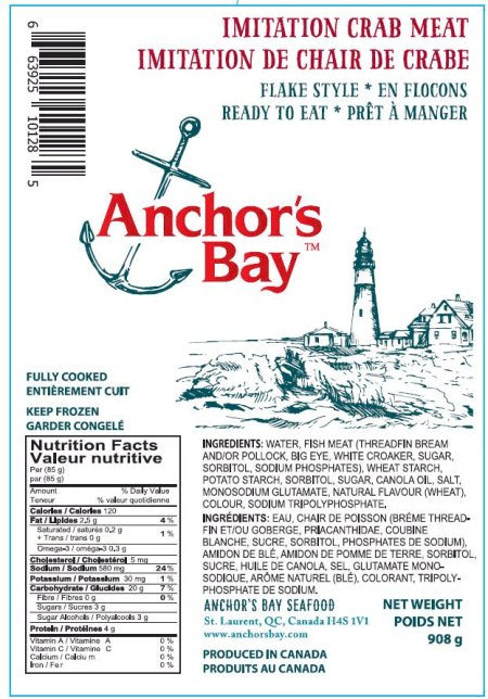 Anchor's Bay Imitation Crab - Flake Style