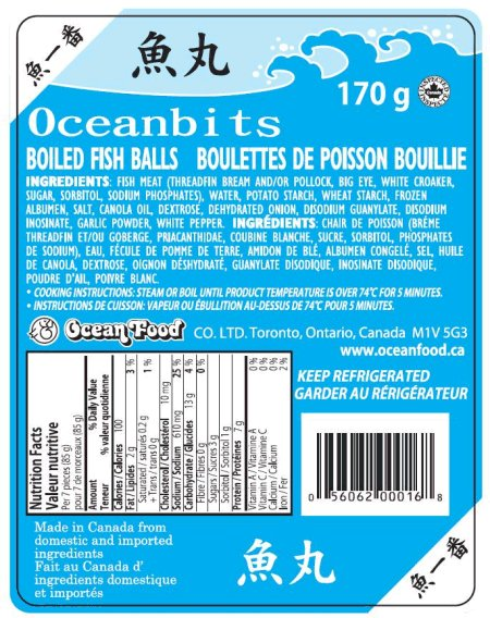 Oceanbits Boiled Fish Balls