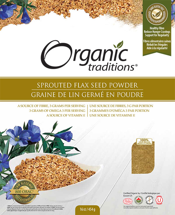 Sprouted Flax Seed Powder - 454 grams