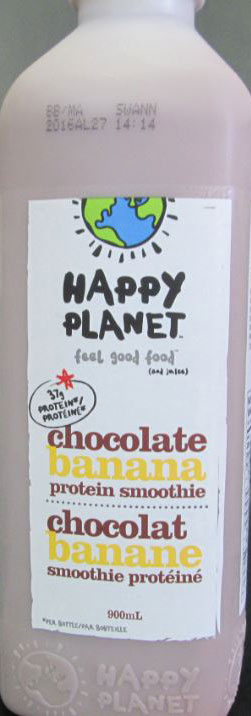 Happy Planet - Chocolate banana protein smoothie - 900 millilitre
