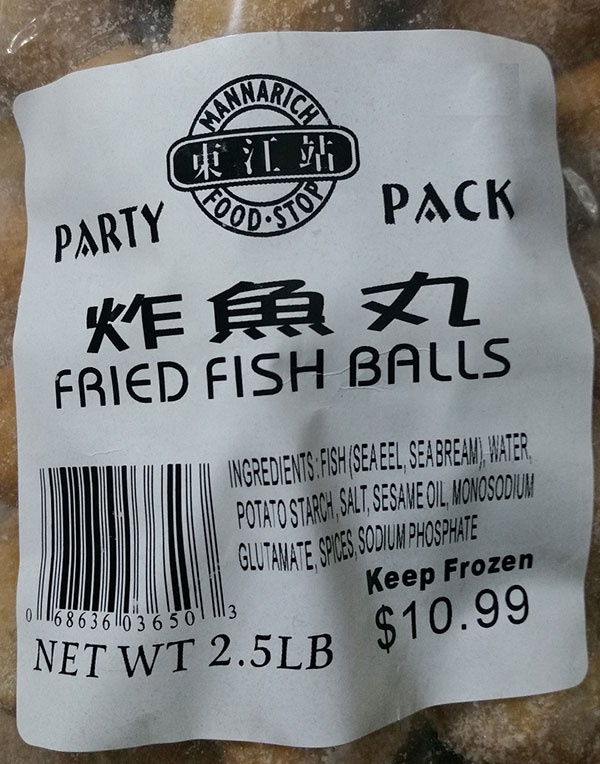 Mannarich Food Stop - Fried Fish Balls – Party Pack - 2.5 pound
