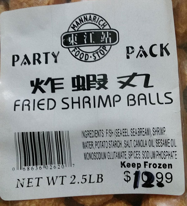 Mannarich Food Stop - Fried Shrimp Balls – Party Pack - 2.5 pound