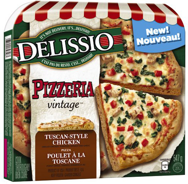 Delissio: Pizzeria vintage Tuscan-Style Chicken Pizza - 547 grams