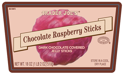 Chocolate Raspberry Sticks