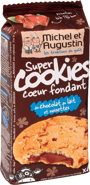 Super cookies with melty middle - Milk chocolate and hazelnuts - 180 grams