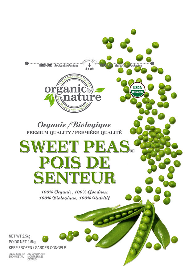 organic by nature - Organic Sweet Peas (frozen) - 2.5 kilogram