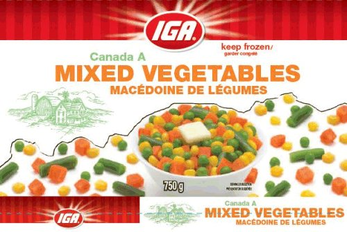 IGA - Mixed Vegetables - 750 grams
