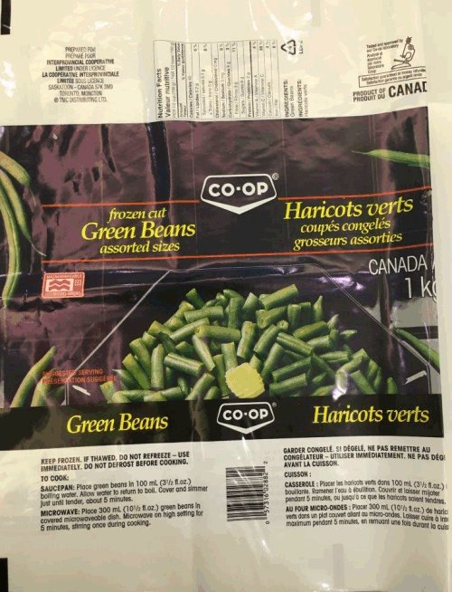Co-op - Frozen Cut Green Beans - 1 kilogram