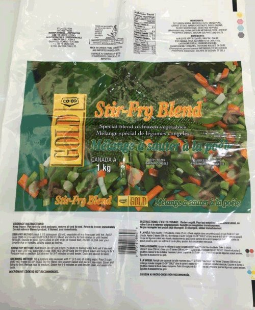 Co-Op Gold - Stir-Fry Blend - 1 kilogram