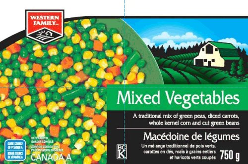 Western Family - Mixed Vegetables - 750 grams