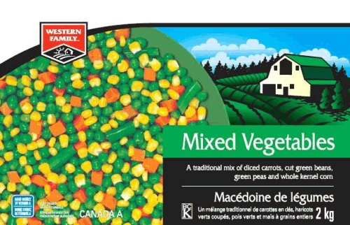 Western Family - Mixed Vegetables - 2 kilograms